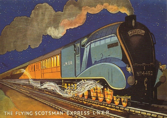 2-Flying -Scotsman -postcard